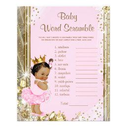 Ethnic Princess Tutu Baby Shower Games Flyer