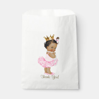 Ethnic Princess Tutu Ballerina Pearls Baby Shower Favor Bag