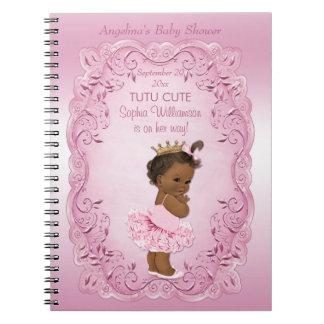 Ethnic Princess Tutu Cute Baby Shower Guest Book Notebook