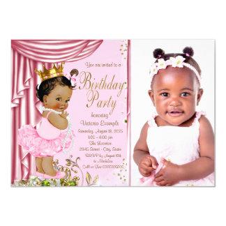 Ethnic Princess Tutu Pearl Birthday Party Card
