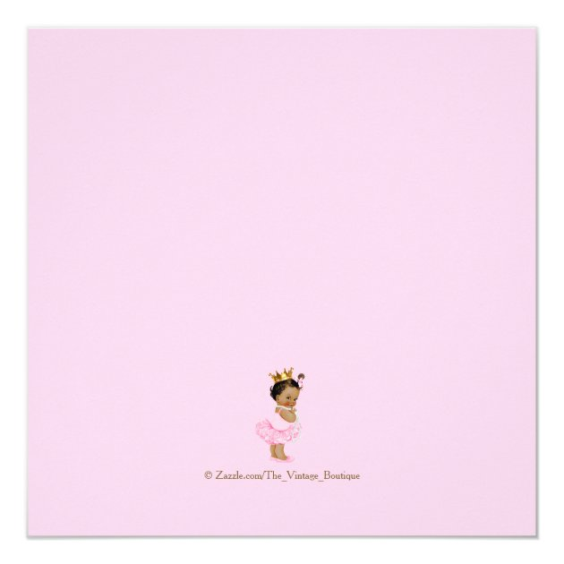 ethnic princess tutu pink gold baby shower card | zazzle, Baby shower invitations
