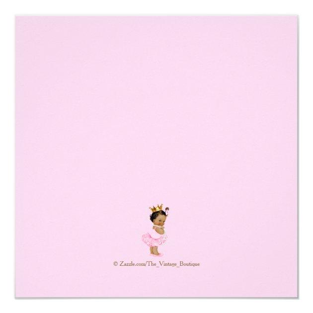Ethnic Princess Tutu Pink Gold Baby Shower Card | Zazzle