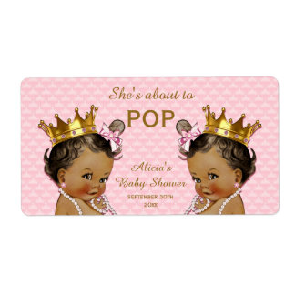Ethnic Princess Twins Mini Champagne Label