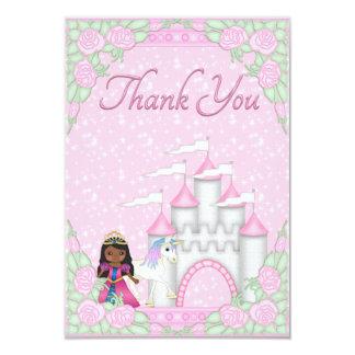 Ethnic Princess, Unicorn & Castle Thank You Card