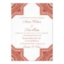 Ethnic Red Moroccan Wedding Invitation