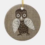 Ethnic retro owl ornaments