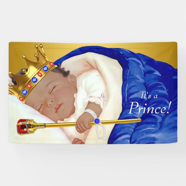 Ethnic Royal Prince Baby Shower Banner Zazzle Com