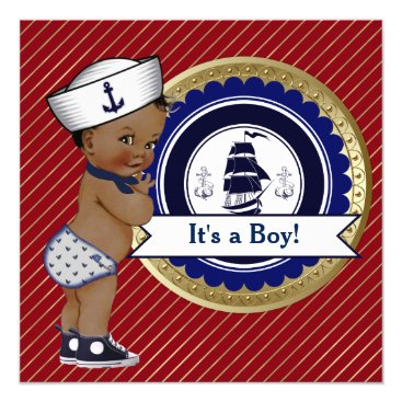 The_Baby_Boutique Ethnic Sailor Boy Nautical Baby Shower Card