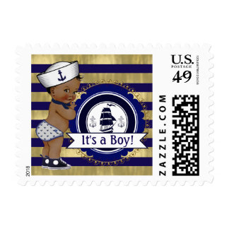 Ethnic Sailor Nautical Baby Shower Postage