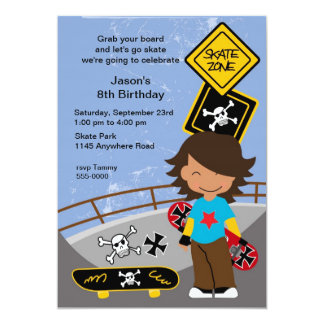 Skateboarding Invitations Announcements Zazzle