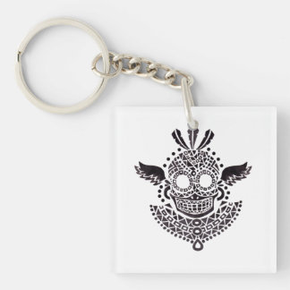 Ethnic Skull Keychain