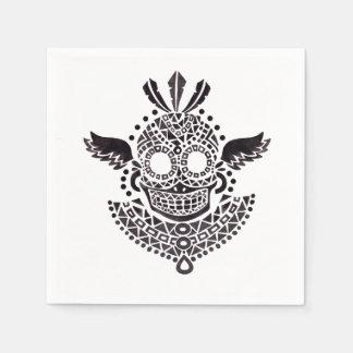 Ethnic Skull Paper Napkin