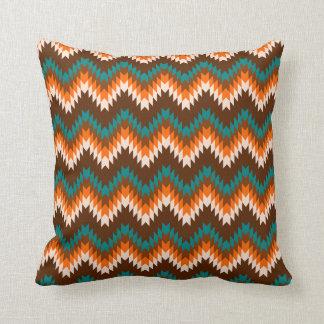 Ethnic style spikes throw pillow