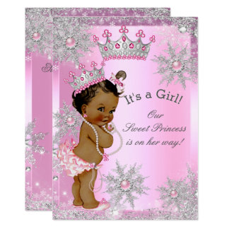 Ethnic Sweet Princess Baby Shower Wonderland Pink Invitation