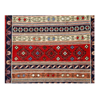 Ethnic Tapestry Print Postcard