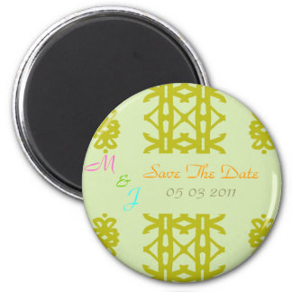 Ethnic Template Save The Date Magnet Template