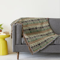 ethnic tribal African pattern throw