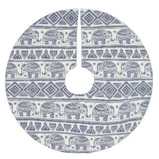 Ethnic Tribal Aztec Elephant Pattern Brushed Polyester Tree Skirt