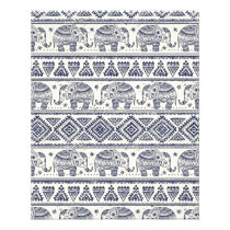 Ethnic Tribal Aztec Elephant Pattern Flyer