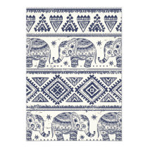 Ethnic Tribal Aztec Elephant Pattern Invitation
