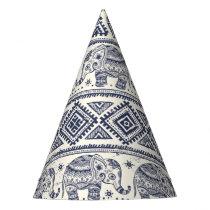 Ethnic Tribal Aztec Elephant Pattern Party Hat