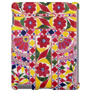 Ethnic Tribal Floral Pattern Textile Embroidery