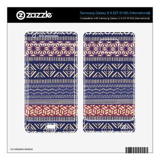 Ethnic Tribal Girly (Purple) Pattern Samsung Galaxy S II Skin