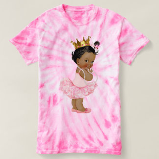 Ethnic Tutu Ballerina Baby Princess and Pearls T Shirt