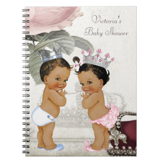 Ethnic Twin Prince and Princess Baby Shower Book