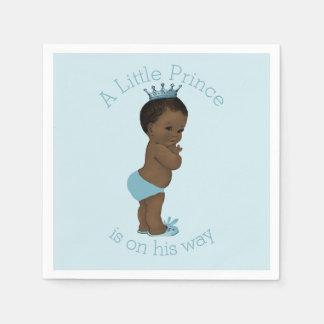 Ethnic Vintage Little Prince Baby Shower Blue Napkin