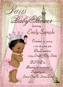Vintage baby shower invitations zazzle ethnic vintage paris baby shower invitation filmwisefo