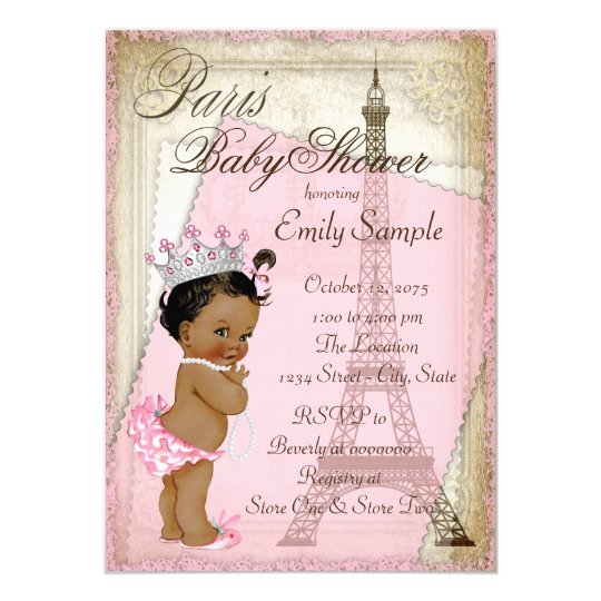 Ethnic Vintage Paris Baby Shower Invitation Zazzle
