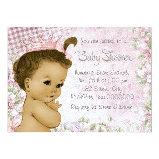 Ethnic Vintage Pink Baby Shower Card