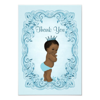 Ethnic Vintage Prince Baby Shower Thank You Card