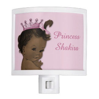 Ethnic Vintage Princess Baby Pink Personalized Night Light