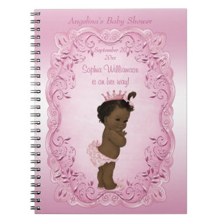 Ethnic Vintage Princess Baby Shower Guest Book Spiral Note Book