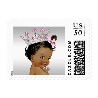 Ethnic Vintage Princess Baby Shower Postage Stamp