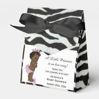 Ethnic Vintage Princess Baby Shower Zebra Pattern Favor Boxes