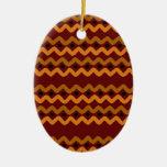 Ethnic waves christmas tree ornament
