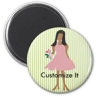 Ethnic Wedding Female 2 Inch Round Magnet