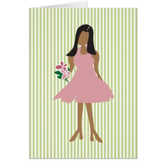 Ethnic Wedding Female Greeting Card