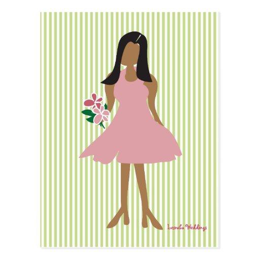 Ethnic Wedding Female Postcard