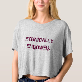 Ethnically endowed t-shirt