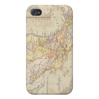 Ethnographic Chart of Mexico Case For iPhone 4