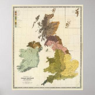 Ethnographic, Gt Brit, Ireland Poster