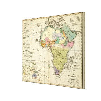 Ethnographic Map of Africa Canvas Print