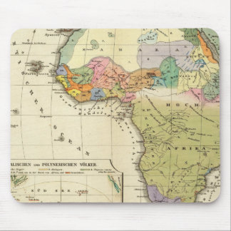 Ethnographic Map of Africa Mouse Pad