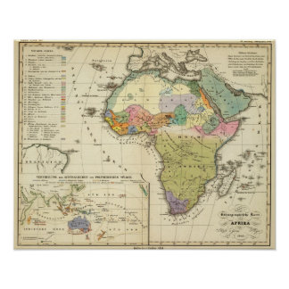 Ethnographic Map of Africa Poster