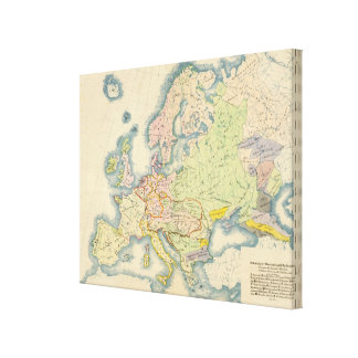 Ethnographic map of Europe Canvas Print