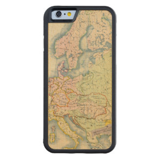 Ethnographic map of Europe Carved Maple iPhone 6 Bumper Case
